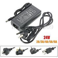 AC 100-240V to DC 24V 2/3/4/5/6A Transformer Power Supply Adapter For LED Strip