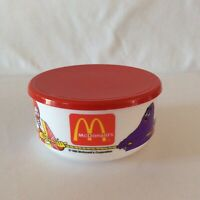 Vintage McDonalds Plastic Cereal Bowl with Lid Whirley Industries 1992 New