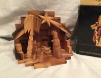 Nativity Creche Hand Carved OLIVE WOOD  Bethlehem