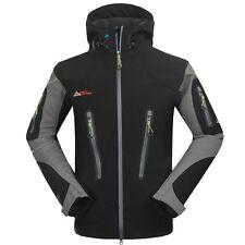 New Men Waterproof Soft Shell Outdoor Jacket Climbing Hiking Camping Golf Jacket
