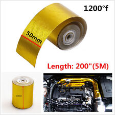 "Car 200"" Reflective 1200°f Continuous Roll SelfAdhesive Heat Shield Wrap Tape 5M"