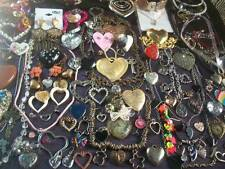 LOT OF VINTAGE/NOW COSTUME JEWELRY ALL HEARTS FOR WEAR, SHARE, & CRAFT