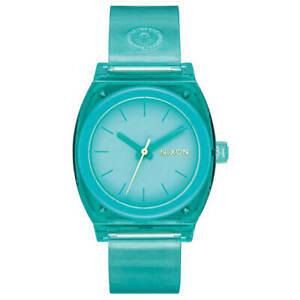 Nixon Women's Watch Time Teller Quartz Turquoise Dial Resin Strap A1215309
