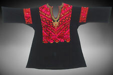 antique Woman's embroidered tunic Dress from swat valley pakistan Kleid 18/1