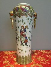 """Antique Chinese Qing Dynasty Collectible Hand Paint Vase 18"""" Tall"""