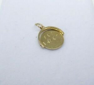 9ct Gold Charm I Love You Spinner Vintage Dangle Traditional Gift Box