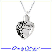 NEW ECN31 Eternity Collection Cremation Jewellery /'Silver Paw Print Heart/' Pet