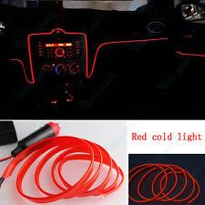 1x 3m Orange Red Cold Light Car Center Console Strip Neon Lamp Decor For Toyota