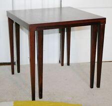 Vintage HELTBORG MOBLER Rosewood Nesting 2 Tables. DOMUS DANICA Denmark. RARE!