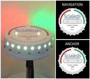 SCIALEDS LED TRICOLOR NAVIGATION & ANCHOR LIGHT - 2 MN