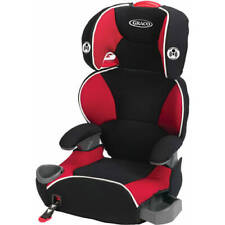 Affix Highback Booster Baby Car Seat with Latch System Multi-Layer Headrest Red
