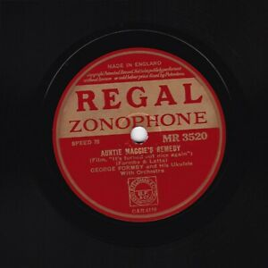 Classic 1941 GEORGE FORMBY 78 AUNTIE MAGGIE'S REMEDY  REGAL ZONOPHONE MR 3520 E-