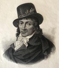 Camille Desmoulins 1760-1794 Révolution Française 1789 gravure sur acier France