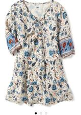 NWT Old Navy Floral Tie Front Tired Dress Size M 8 Kid Girl Spring