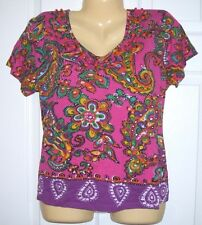 Choice Women Pull Over Top XL 65/35 Cotton/ Rayon Short Sleeve  #339