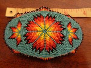 Outstanding Native American Beaded Hairpiece Barrette Menomonie Wi.