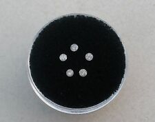 5 Gray White Diamond Loose Rounds  2mm each