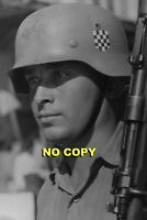 Croatian Division volunteer German Army soldier Wehrmacht photo photograph 4x6