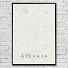 ATLANTA Map Print, USA Wall Art Poster City Map Wall Decor A3 A2 A1
