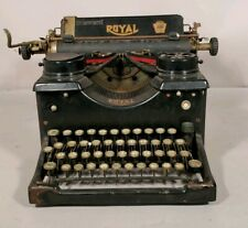 Antique Vintage Royal Model 10 Typewriter with Beveled Glass Sides
