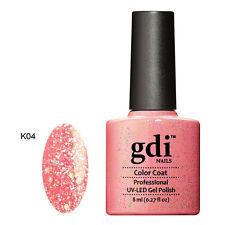 Diamond Glitter Nail GEL Polish by GDI Nails London UV LED Soak 8ml Post K04 - Pink Fantasia