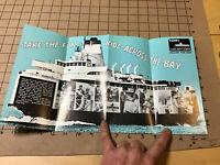 HIGH GRADE Original Brochure: 1971 CAPE MAY-LEWIS FERRY nj-de