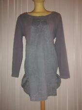 36 40 42 Jersey dunkelblau grüne Pünktchen 10/% Kleid von Simclan Gr