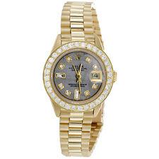 Rolex Datejust президента 18K золото 26 мм бриллиант метеорит циферблат наручные часы 1.38 кар