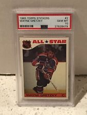1985 Topps Stickers #2 - WAYNE GRETZKY - PSA 10 Gem Mint - NHL All-Star