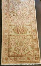 Authentic Handmade Beige Zeigler rug 240 cm x 78 cm