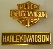 HARLEY DAVIDSON MOTOR CYCLES 2 x Enamel Lapel Pin Badges MOTORBIKE Lot 2