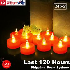 24x LED Candle Tea Light 120 hours Red Flameless Battery Operated Party Decorati