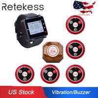 Retekess Coffee Shop Kitchen Guest Calling Wrist Watch Pager System 999CH USship