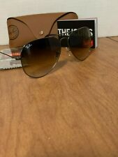 Ray Ban Aviator RB 3025 004/51 Gunmetal/Gradient brown sunglasses 62mm