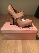 Beige/Nude Leather Lined Court Shoe 6 BNIB