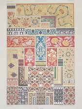 ART DECO INDIEN RACINET LITHOGRAPHIE Art Decoratif Flore Ornements INDE 1870