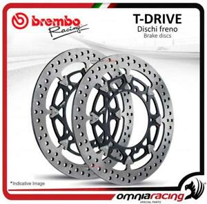 Pair of front brake discs Brembo T Drive 320mm for Yamaha YZF R1/R1M 2015>