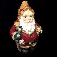 Vintage Christopher Radko Frosty Leaf Santa Woodland Winds Christmas