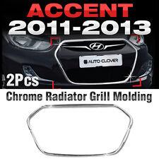 Chrome Radiator Grill Garnish Molding B225 For HYUNDAI 2011-2017 Accent Verna