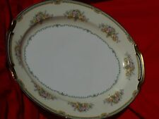 "Vintage Noritake Large 16"" SERVING PLATTER Ext Design GIRARDO Gold Gild Flowers"