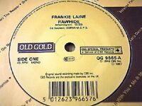 "FRANKIE LAINE - RAWHIDE / MULE TRAIN     7"" OLD GOLD VINYL"