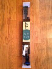 "RuLu Drapery Curtain Rod 18""-48"" Adjust Black Matted Half Round metal 1.25"" pipe"
