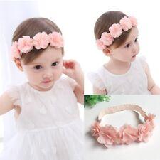 Baby Girls Kid Soft Elastic Flower Headband Hairband Cute Hair Band Accessories
