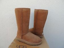 UGG CHESTNUT CLASSIC TALL SUEDE/ SHEEPSKIN BOOTS,  WOMENS US 9/ EUR 40 ~NEW