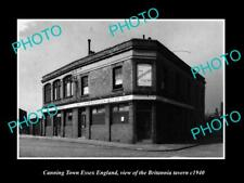 OLD LARGE HISTORIC PHOTO CANNING TOWN ESSEX ENGLAND, THE BRITANNIA TAVERN c1940