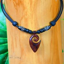 Lederkette mit Koru Anhänger Halskette Surferkette Maori Freundschaftskette Hope
