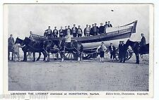 NORFOLK, HUNSTANTON, LAUNCHING OF THE LIFEBOAT, CREW