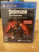 Playstation PS4 Wolfenstein Youngblood Deluxe Edition Includes FREE Buddy Pass