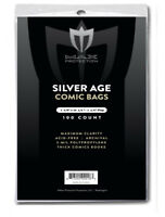 1000 Max Pro Silver Age Comic Book Poly Bags - 7 1/8 X 10 1/2 -Archival Safe