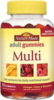 Nature Made Adult Multivitamin Gummies, Orange, Cherry & Mixed Berry, 90 Count